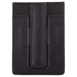 Lodis Black Leather Adhesive Tech Card Case